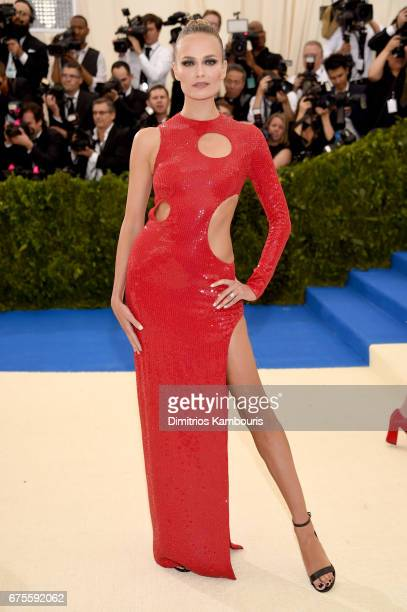 Natasha Poly attends the 'Rei Kawakubo/Comme des Garcons Art Of The InBetween' Costume Institute Gala at Metropolitan Museum of Art on May 1 2017 in...
