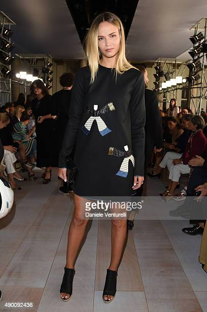 Natasha Poly attends the Roberto Cavalli show during the Milan Fashion Week Spring/Summer 2016 on September 26 2015 in Milan Italy
