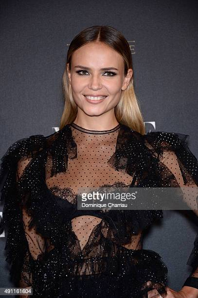 Natasha Poly attends the Vogue 95th Anniversary Party Photocall as part of the Paris Fashion Week Womenswear Spring/Summer 2016 on October 3 2015 in...