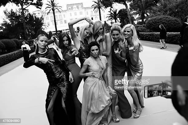 Natasha Poly Barbara Palvin SooJoo Park Eva Longoria Karlie Kloss Doutzen Kroes and Lara Stone attend amfAR's 22nd Cinema Against AIDS Gala Presented...