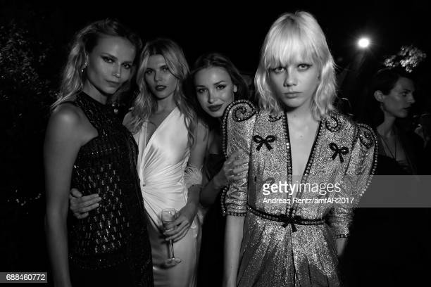 Natasha Poly Maryna Linchuk Lara Lieto and Marjan Jonkman attend the amfAR Gala Cannes 2017 at Hotel du CapEdenRoc on May 25 2017 in Cap d'Antibes...