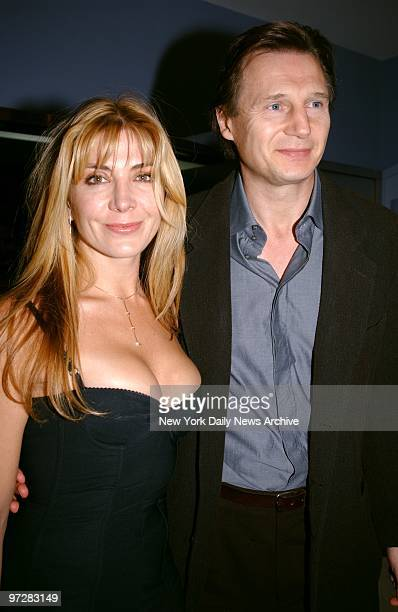 Natasha Richardson and Liam Neeson are on hand at the world premiere of the movie 'Iris' at the Paris Theater