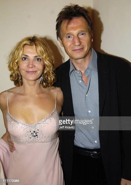 Natasha Richardson and Liam Neeson during 2005 HBO PreGolden Globe Awards Party in Los Angeles California United States