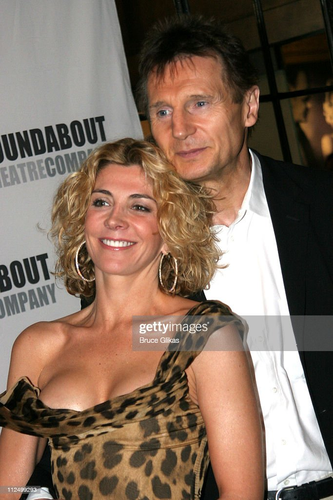 Natasha Richardson and Liam Neeson during 'A Streetcar Named Desire' on Broadway Curtain Call and After Party at Roundabout Theater at Studio 54 in...