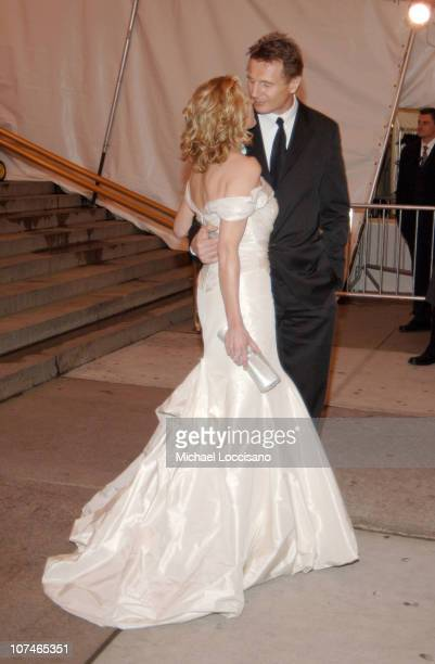 Natasha Richardson and Liam Neeson during 'Chanel' Costume Institute Gala Opening at the Metropolitan Museum of Art Departures at The Metropolitan...