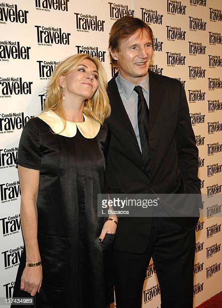 Natasha Richardson and Liam Neeson during Conde Nast Traveler 19th Annual Readers' Choice Awards Inside Arrivals at American Museum of Natural...