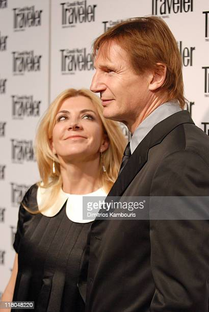 Natasha Richardson and Liam Neeson during Conde Nast Traveler 19th Annual Readers' Choice Awards at American Museum of Natural History in New York...