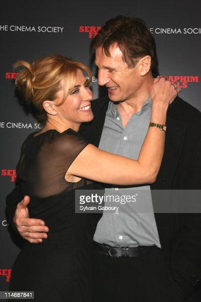 Natasha Richardson and Liam Neeson during 'Seraphim Falls' New York Screening Hosted by The Cinema Society Inside Arrivals at Tribeca Grand Hotel...