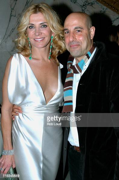 Natasha Richardson and Stanley Tucci during Merchant Ivory's 'The White Countess' New York City Premiere After Party in New York City New York United...