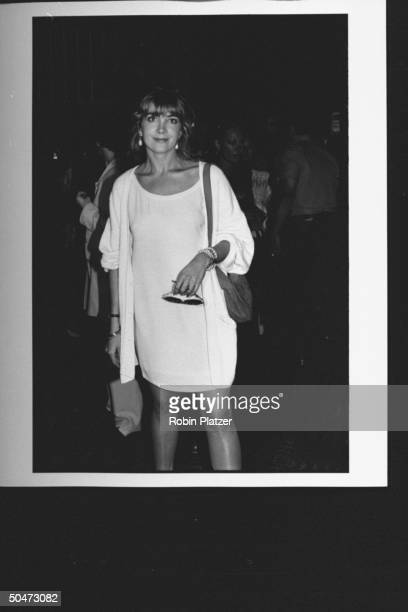 Natasha Richardson posing at premiere of movie A League of Their Own at Tavern on the Green restaurant