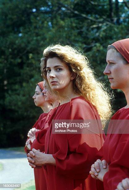 Natasha Richardson walks with two other women in a scene from the film 'The Handmaid's Tale' 1990