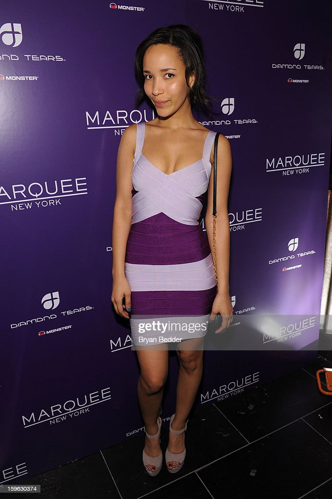 Natasha Roberts attends the grand opening of Marquee New York on January 16, 2013 in New York City.