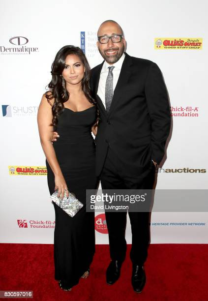 Natasha Sen and David Fizdale at the 17th Annual Harold Carole Pump Foundation Gala at The Beverly Hilton Hotel on August 11 2017 in Beverly Hills...