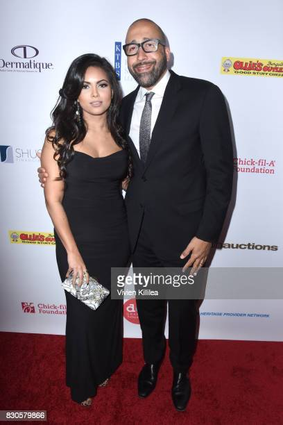Natasha Sen and David Fizdale attend the 17th Annual Harold Carole Pump Foundation Gala at The Beverly Hilton Hotel on August 11 2017 in Beverly...