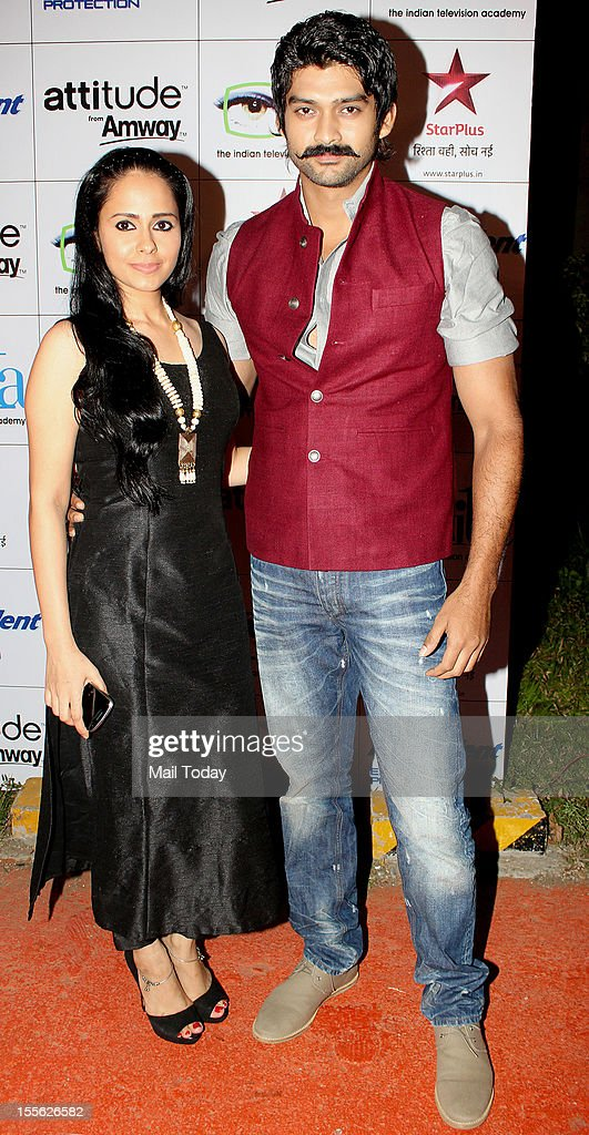 Natasha Sharma and Aditya Redij during Indian Television Academy Awards 2012 (ITA Awards), held in Mumbai on November 4, 2012.