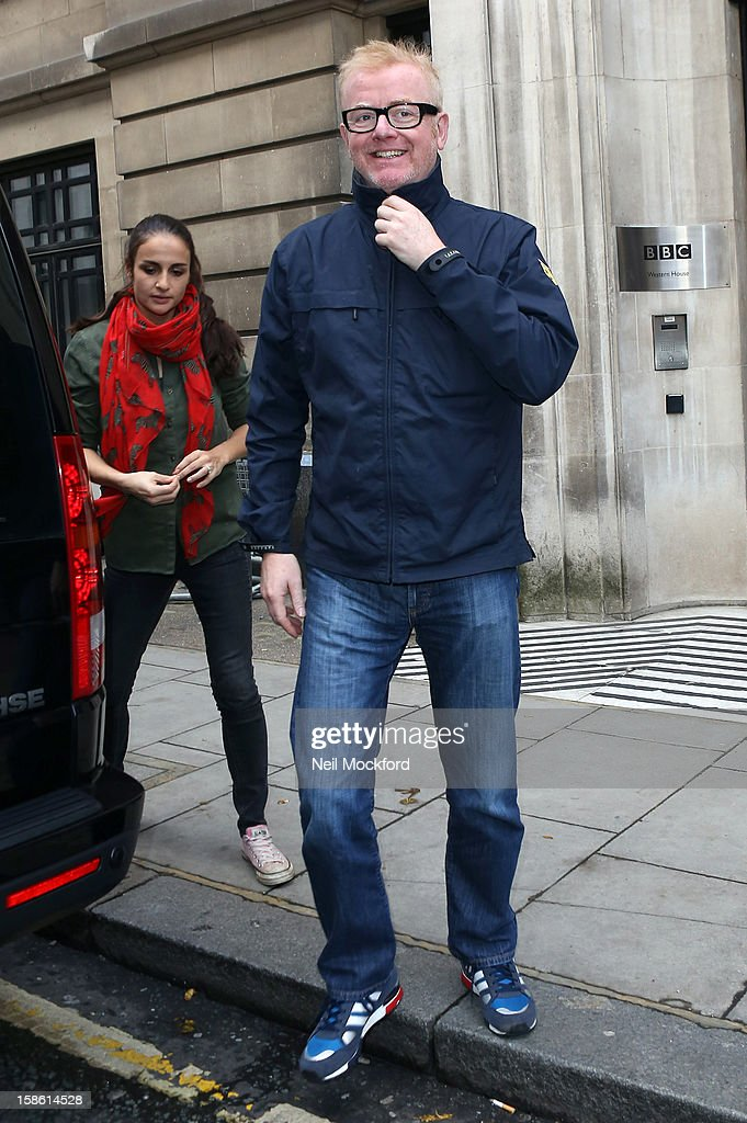 Natasha Shishmanian and Chris Evans seen at BBC Radio 2 on December 21, 2012 in London, England.