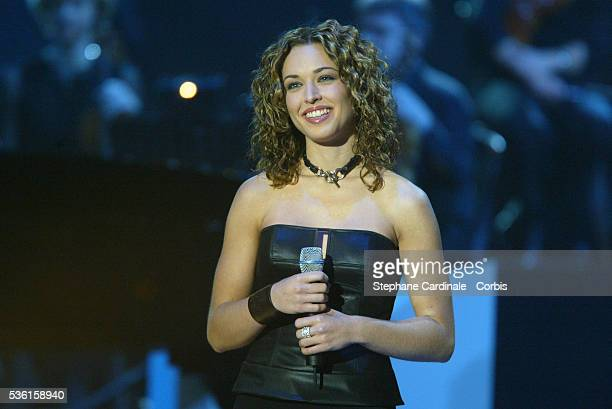 Natasha St Pier performs on stage at the 2003 French Music Awards She won the award for Best Discovery of the Year