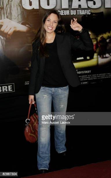 Natasha StPier attends the ' Go Fast' premiere at Le Grand Rex on September 18 2008 in Paris France
