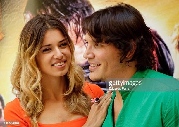 Natasha Yarovenko and Sergio PerisMencheta attend 'Capitan Trueno' photocall at Cinema Academy on October 6 2011 in Madrid Spain