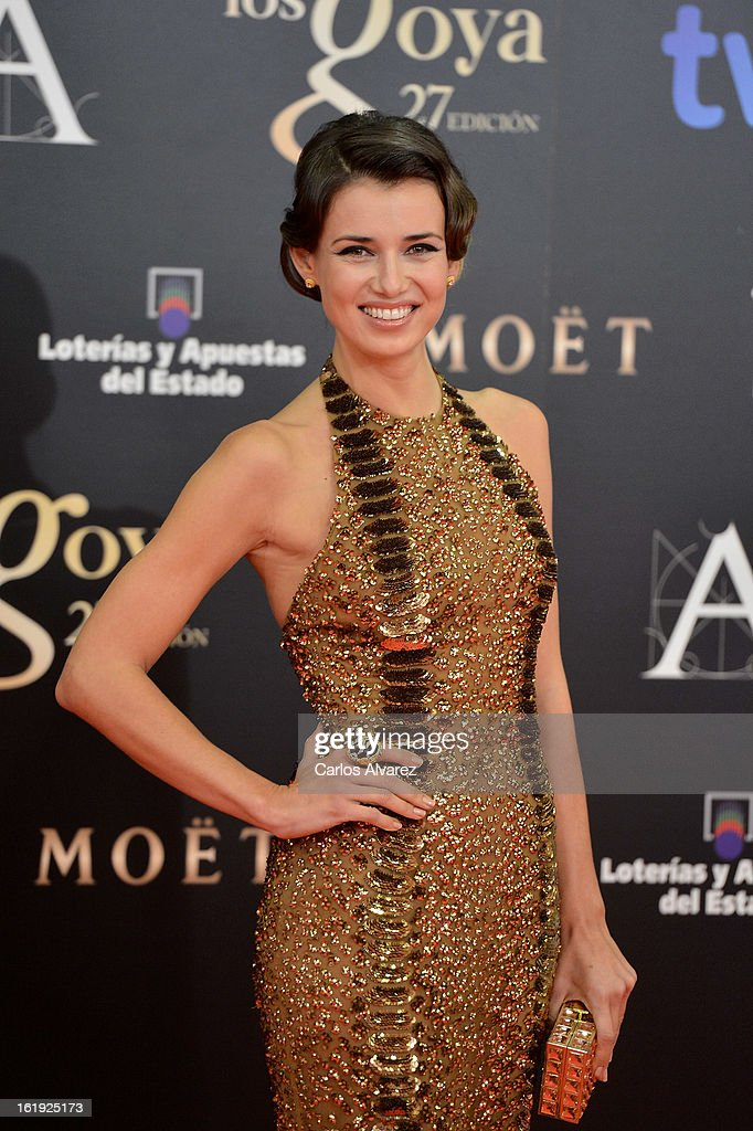 Natasha Yarovenko attends Goya Cinema Awards 2013 at Centro de Congresos Principe Felipe on February 17, 2013 in Madrid, Spain.