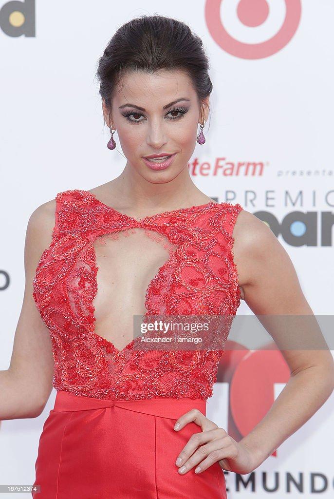 Natassja Bolivar arrives at Billboard Latin Music Awards 2013 at Bank United Center on April 25, 2013 in Miami, Florida.