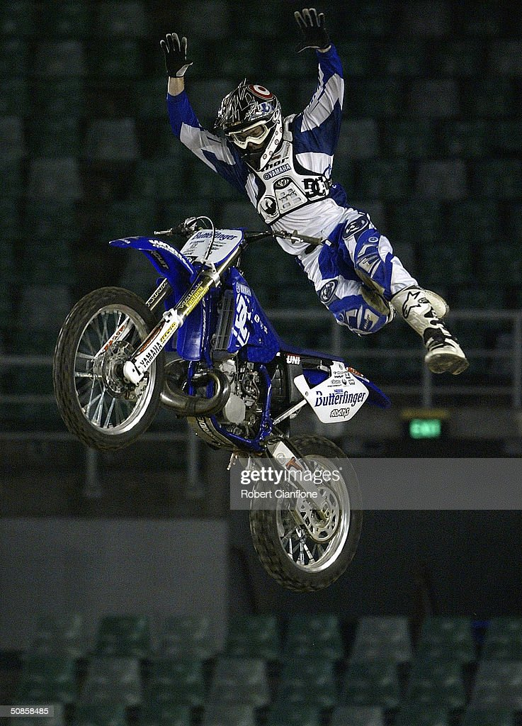 Nate Adams in action during a media call for the Crusty Demons Nine Lives Tour May 20, 2004 at the Rod Laver Arena in Melbourne, Australia.