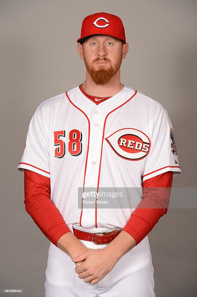 Nate Adcock #58 of the Cincinnati Reds poses during Photo Day on Thursday, February 26, 2015 at Goodyear Ballpark in Goodyear, Arizona.