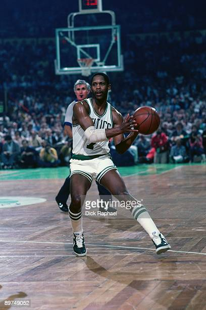 Nate Archibald of the Boston Celtics passes during a game played in 1982 at the Boston Garden in Boston Massachusetts NOTE TO USER User expressly...