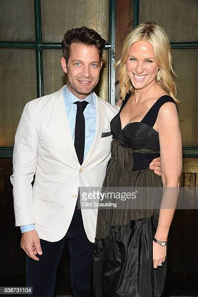 Nate Berkus and Elizabeth Grennan attend Nate Berkus and Next Generation Nepal Honor Prabal Gurung at Penthouse at the Park on June 7 2016 in New...