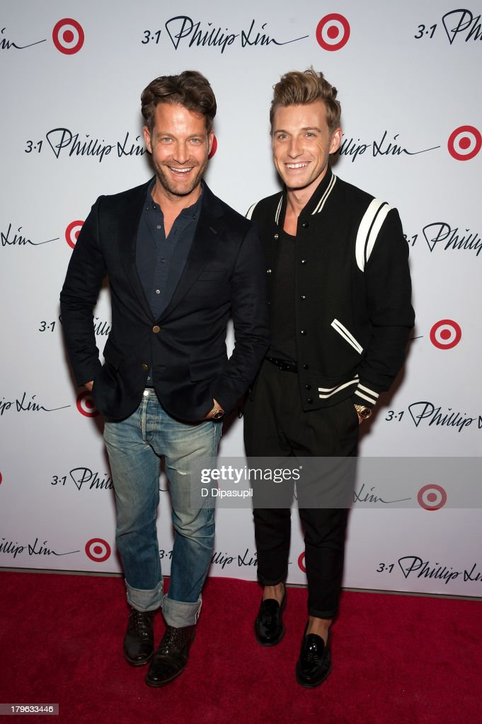 Nate Berkus (L) and Jeremiah Brent attend the 3.1 Phillip Lim for Target Launch Event at Spring Studio on September 5, 2013 in New York City.