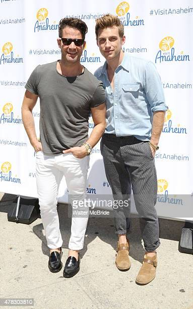 Nate Berkus and Jeremiah Brent attend the Anaheim/Orange County Visitor Convention Bureau unveiling of its new brand bringing the sun and fun of...