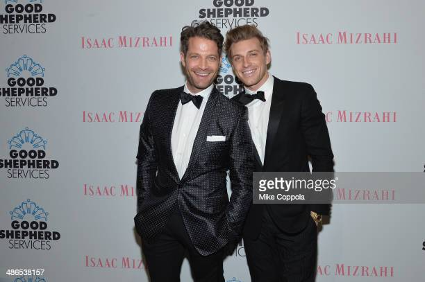 Nate Berkus and Jeremiah Brent attend the Good Shepherd Services Spring Party hosted by Isaac Mizrahi at Stage 37 on April 24 2014 in New York City
