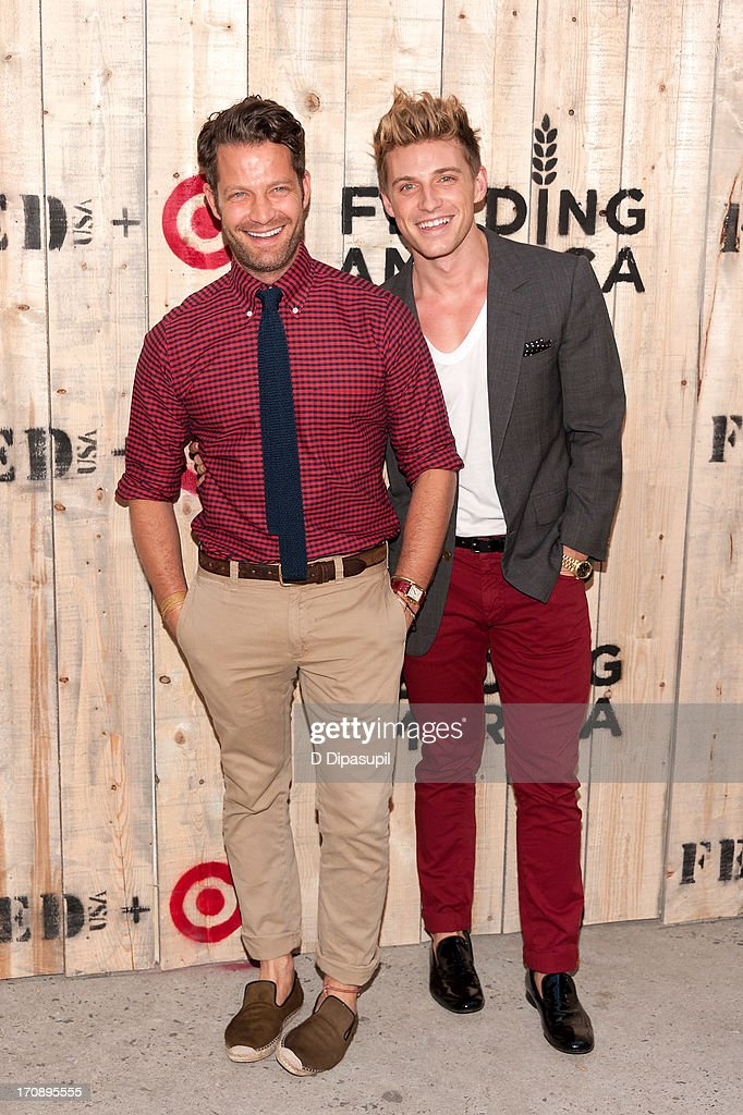 <a gi-track='captionPersonalityLinkClicked' href=/galleries/search?phrase=Nate+Berkus&family=editorial&specificpeople=4350268 ng-click='$event.stopPropagation()'>Nate Berkus</a> (L) and Jeremiah Brent attend the Target FEED Collaboration launch at Brooklyn Bridge Park on June 19, 2013 in New York City.