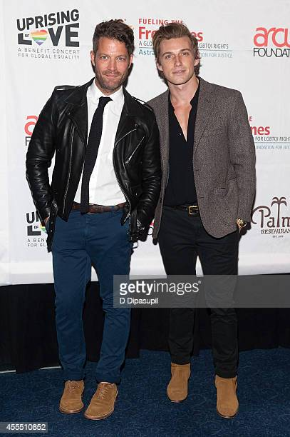 Nate Berkus and Jeremiah Brent attend Uprising Of Love A Benefit Concert For Global Equality at the Gershwin Theatre on September 15 2014 in New York...