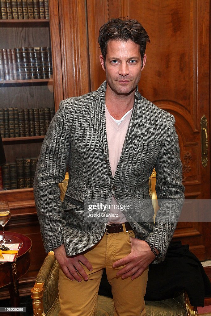 <a gi-track='captionPersonalityLinkClicked' href=/galleries/search?phrase=Nate+Berkus&family=editorial&specificpeople=4350268 ng-click='$event.stopPropagation()'>Nate Berkus</a> attends Derek Blasberg For Opening Ceremony Stationery Launch Party at Saint Regis Hotel on December 18, 2012 in New York City.