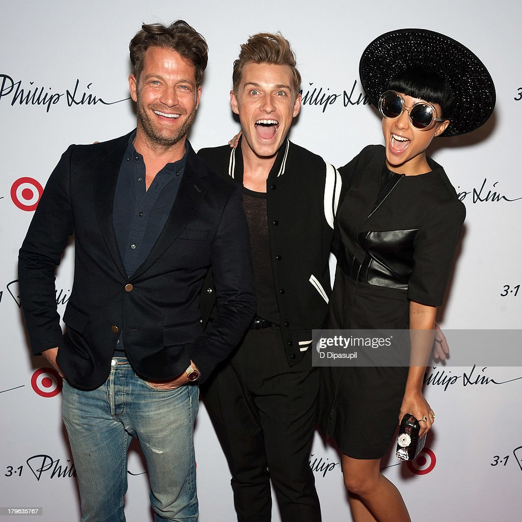 <a gi-track='captionPersonalityLinkClicked' href=/galleries/search?phrase=Nate+Berkus&family=editorial&specificpeople=4350268 ng-click='$event.stopPropagation()'>Nate Berkus</a>, Jeremiah Brent, and <a gi-track='captionPersonalityLinkClicked' href=/galleries/search?phrase=Natalia+Kills&family=editorial&specificpeople=6915479 ng-click='$event.stopPropagation()'>Natalia Kills</a> attend the 3.1 Phillip Lim for Target Launch Event at Spring Studio on September 5, 2013 in New York City.
