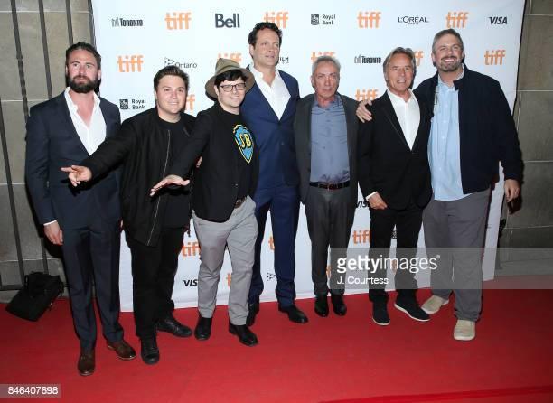 Nate Bolotin Producer Jack Heller TIFF programmer Peter Kuplowsky actors Vince Vaughen Udo Kier Don Johnson and producer Dallas Sonnier attend the...