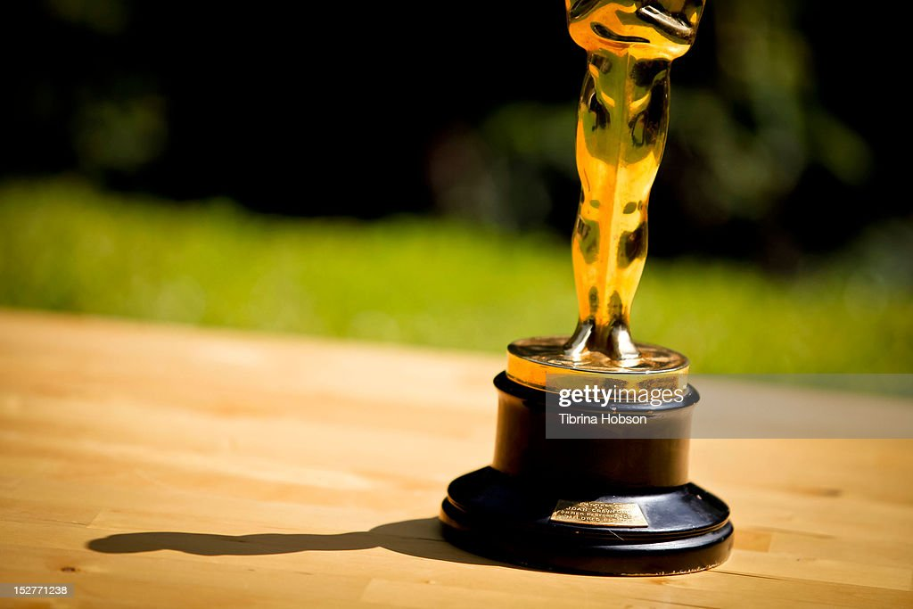 Nate D. Sanders auctions Joan Crawford's best actress Oscar for 'Mildred Pierce' on September 25, 2012 in Brentwood, California.