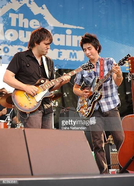 Nate Dale and Jackie Greene of The Jackie Greene Band perform at the Mountain Music Festival at the Marymoor Amphitheater on August 16 2008 in...