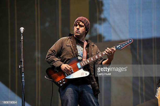Nate Dale performs with 'The Jackie Greene Band' at The Hardly Strictly Bluegrass festival in Golden Gate Park in San Francisco California on...