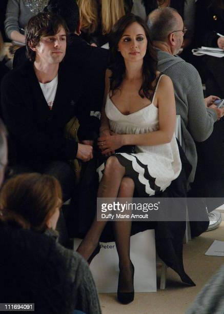 Nate Dushku and actress Eliza Dushku attend Peter Som Fall 2008 during MercedesBenz Fashion Week at The Promenade Bryant Park on February 4 2008 in...