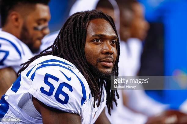Nate Irving of the Indianapolis Colts is seen during the game against the Baltimore Ravens at Lucas Oil Stadium on August 20 2016 in Indianapolis...