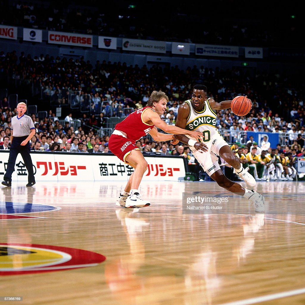 1992 Japan Games Seattle SuperSonics v Houston Rockets