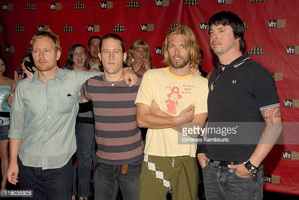 Nate Mendel Chris Shiflett Taylor Hawkins and Dave Grohl of Foo Fighters