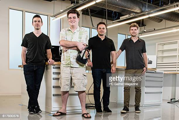 Nate Mitchell Palmer Luckey Brendan Iribe and Michael Antonov founding members of American virtual reality technology company Oculus taken on March 8...