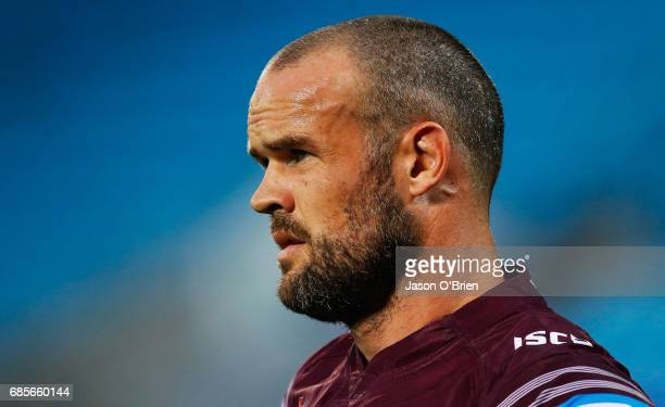 Nate Myles during the round 11 NRL match between the Gold Coast Titans and the Manly Sea Eagles at Cbus Super Stadium on May 20 2017 in Gold Coast...