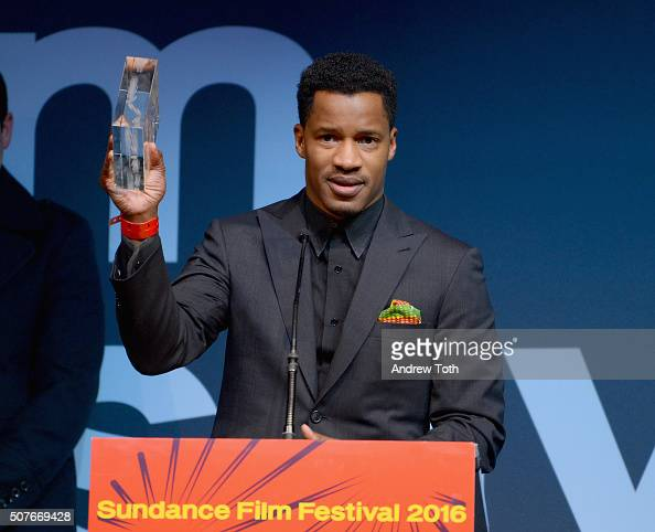 Nate Parker accepts the Audience Award US Dramatic for the film The Birth of a Nation onstage at the Sundance Film Festival Awards Ceremony during...