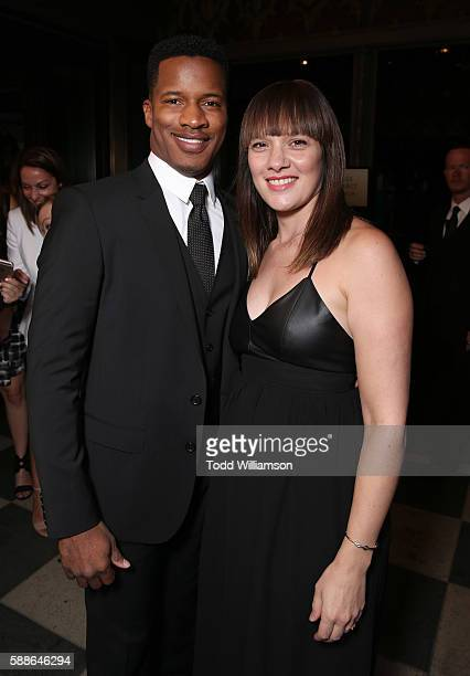 Nate Parker and wife Sarah Parker attend Sundance Institute NIGHT BEFORE NEXT at The Theatre At The Ace Hotel on August 11 2016 in Los Angeles...