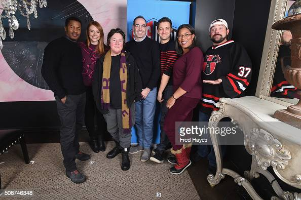 Nate Parker Bryce Dallas Howard Christine Vachon Chad Hartigan Chris Kelly Darrien Michele Gipson and Kevin Smith attend the SAG Indie Brunch for...