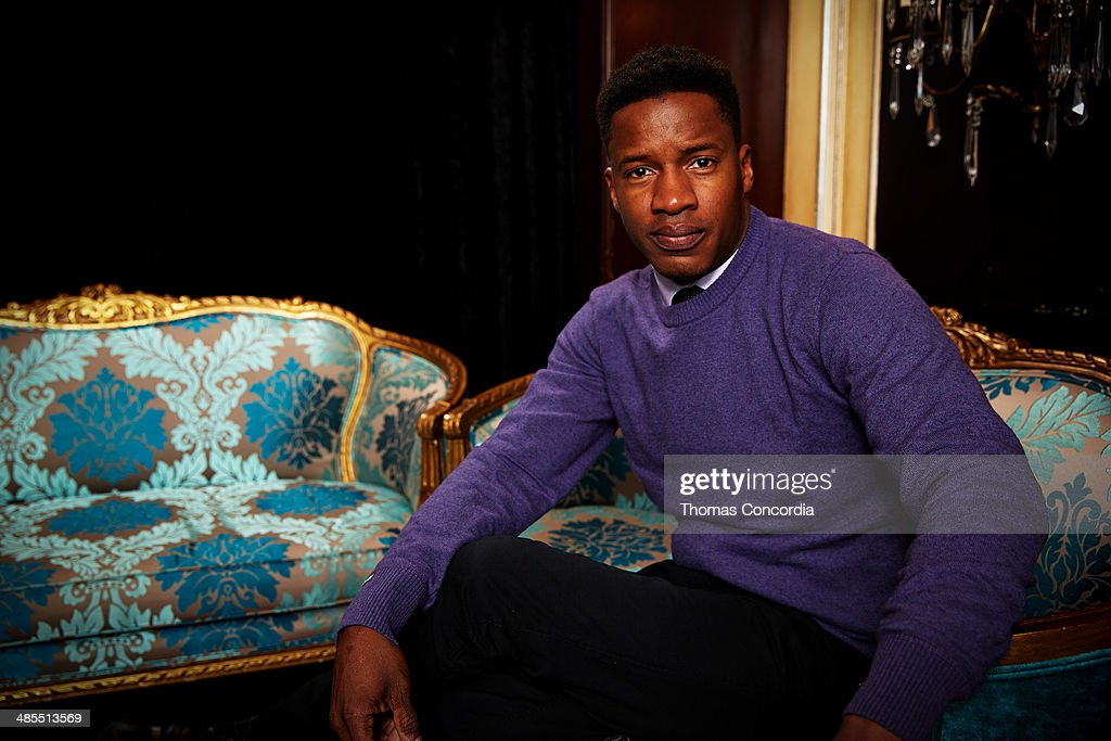 <a gi-track='captionPersonalityLinkClicked' href=/galleries/search?phrase=Nate+Parker+-+Actor&family=editorial&specificpeople=14598637 ng-click='$event.stopPropagation()'>Nate Parker</a> visits the WireImage portrait studio at the Tribeca Film Festival Films 'About Alex,' 'Gabriel,' & 'Match' Tribeca Press Day At The Carlton Hotel Hosted With Fiji Water And Dobel Tequilaon April 18, 2014 in New York City.